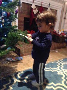 caleb at christmas