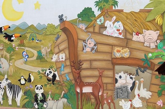 mural of Noah's Ark