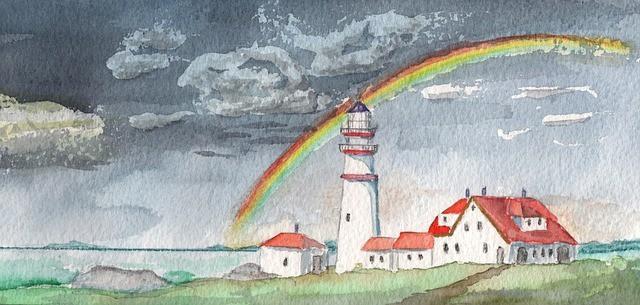 rainbow hope watercolor