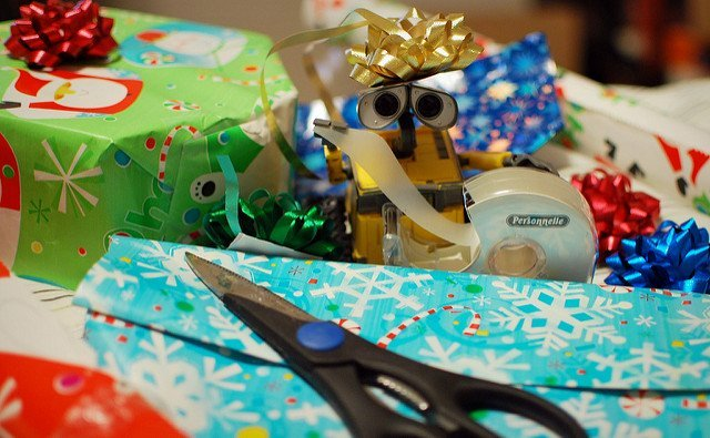 wrapping presents