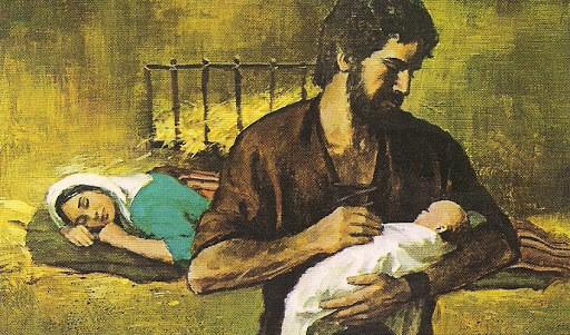 Joseph and Infant Jesus