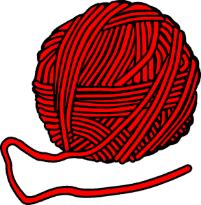 red wool yarn