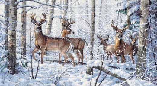 snowy forest deer puzzle