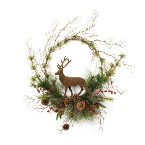 deer door wreath