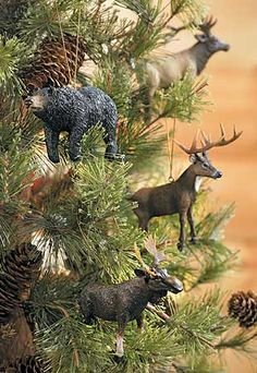 forest animal ornaments