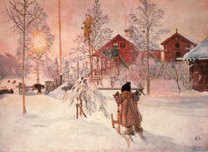 Carl Larsson winter scene